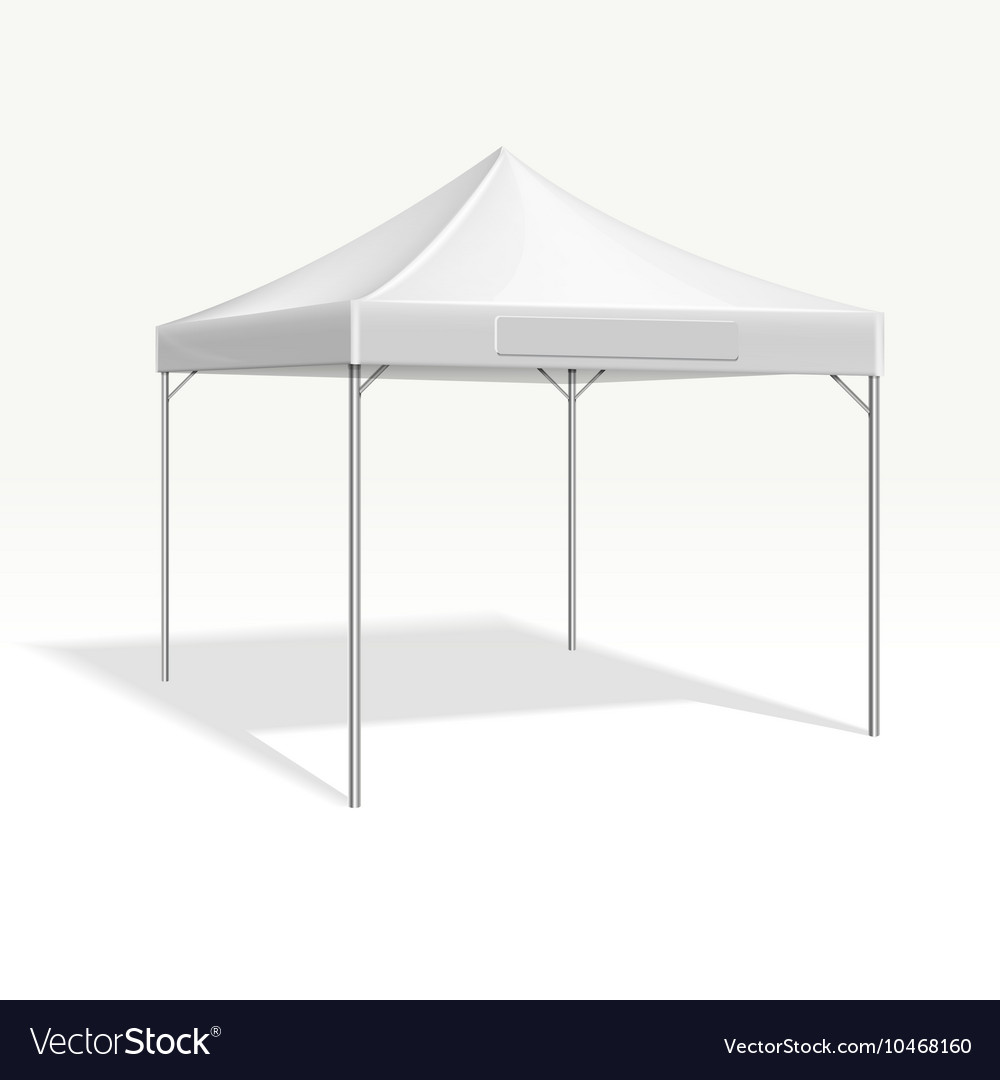 Mobile marquee tent for trade show mockup vector image & Mobile marquee tent for trade show mockup Vector Image