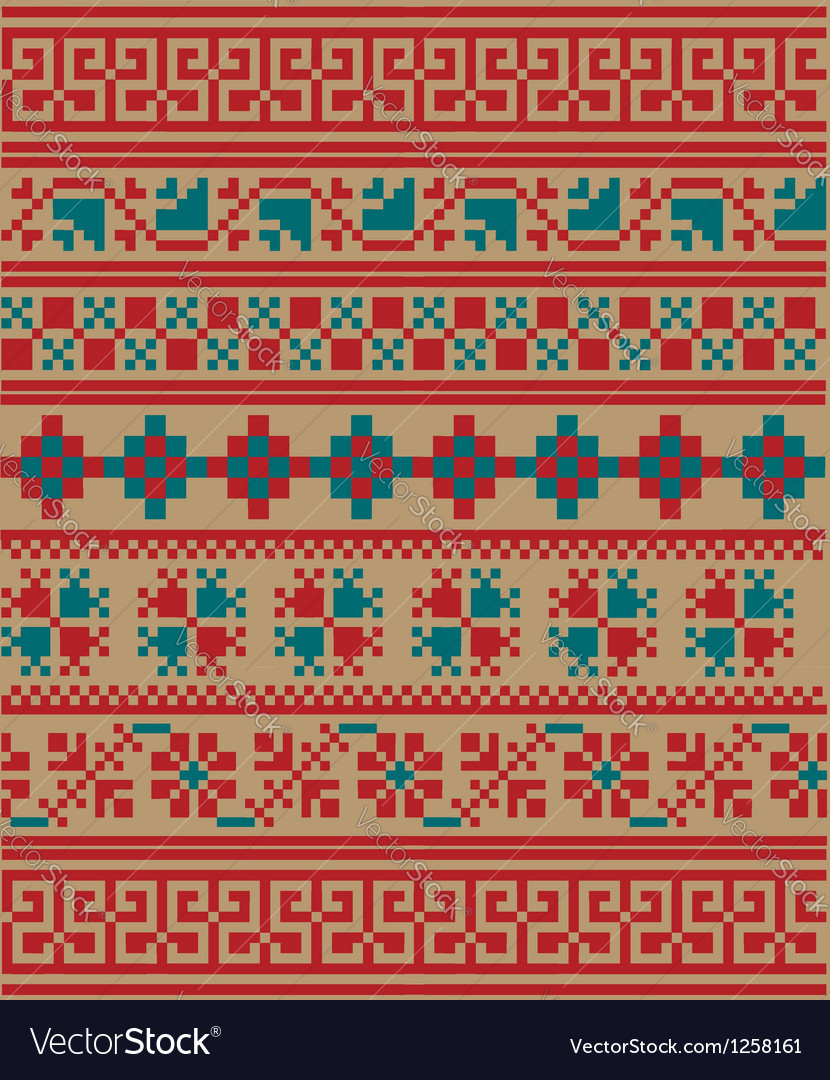Inca iconography background vector image