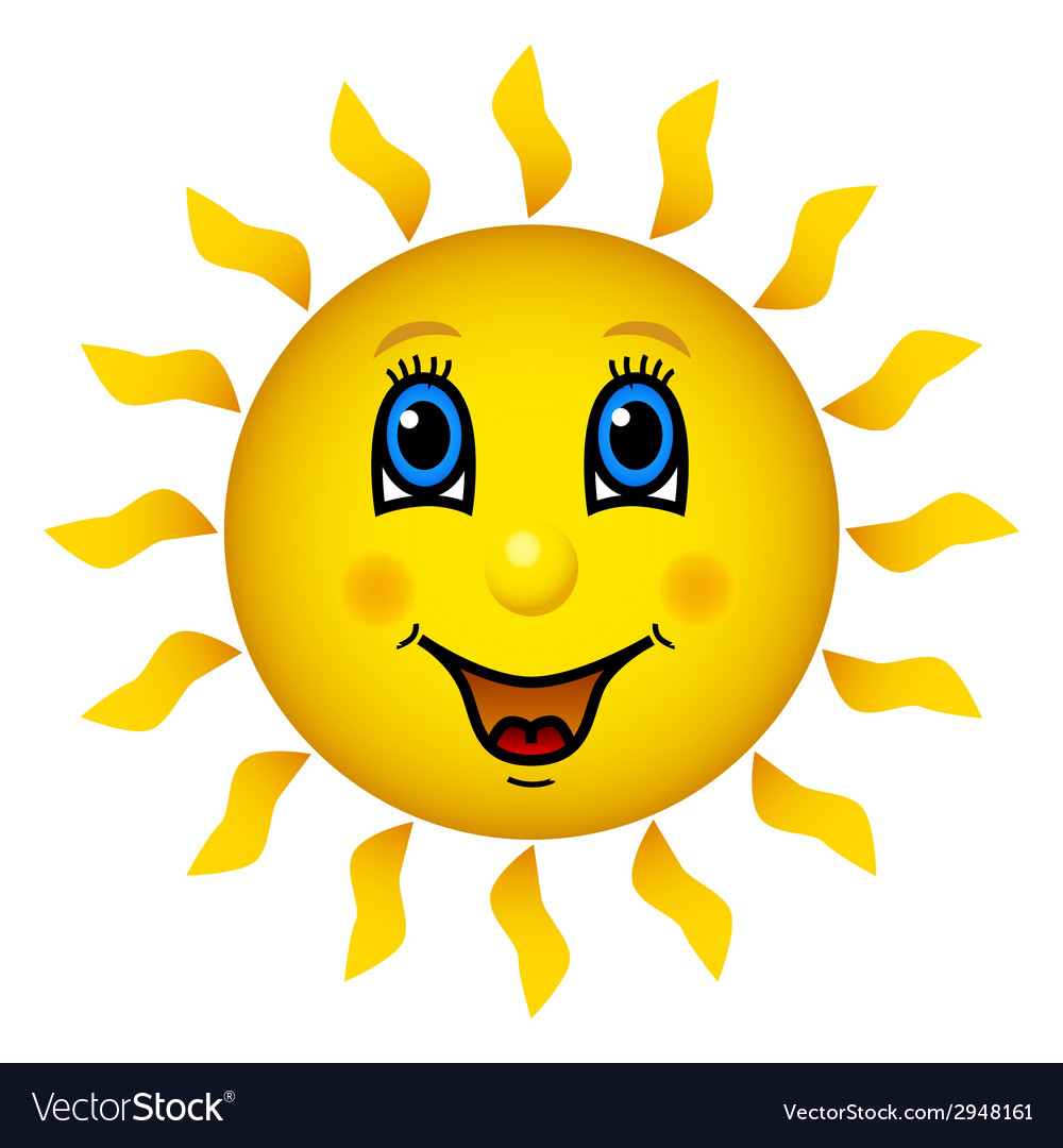 Happy smiling sun vector image