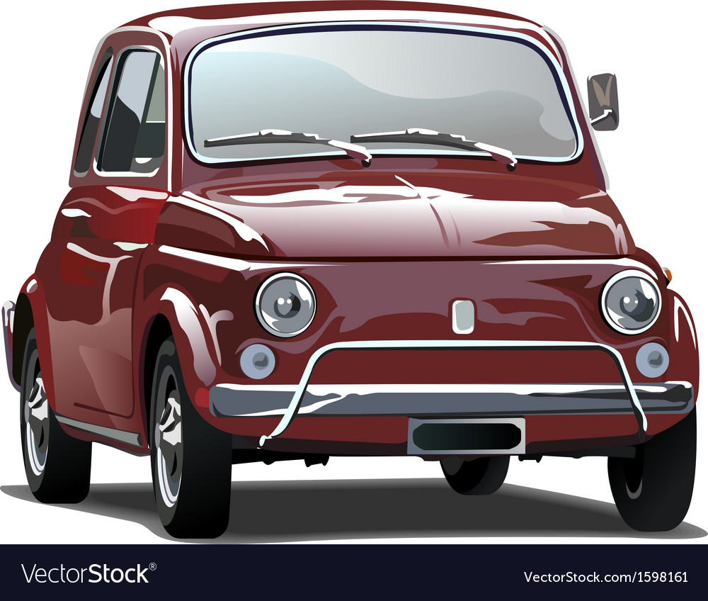 Red old car vector image