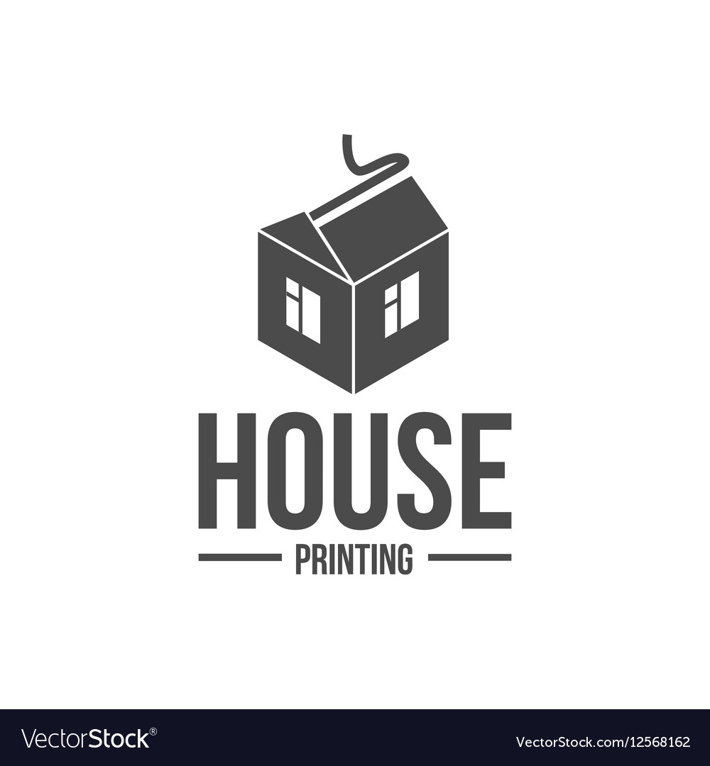 Modern printer badges logotypes and icons vector image