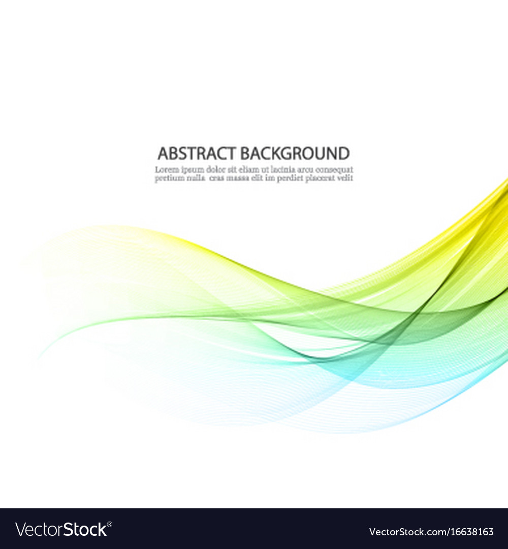 Blue and yellow lines in the waveform vector image