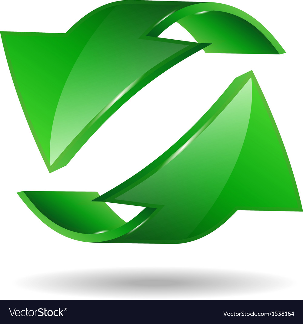 Arrow sticker vector image