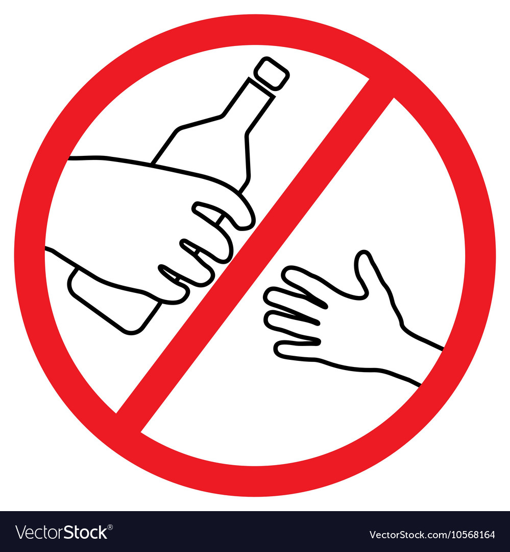 No Alcohol for kids vector image
