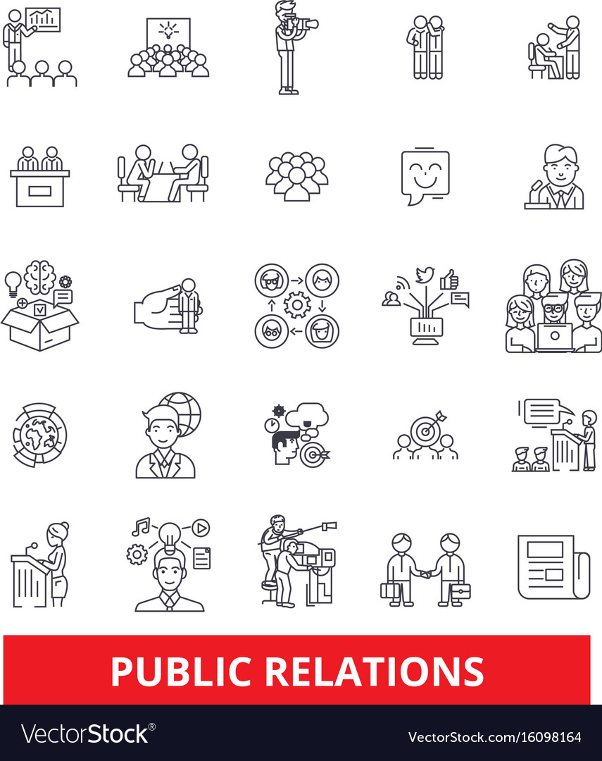 Pubility fame advertising public relations vector image