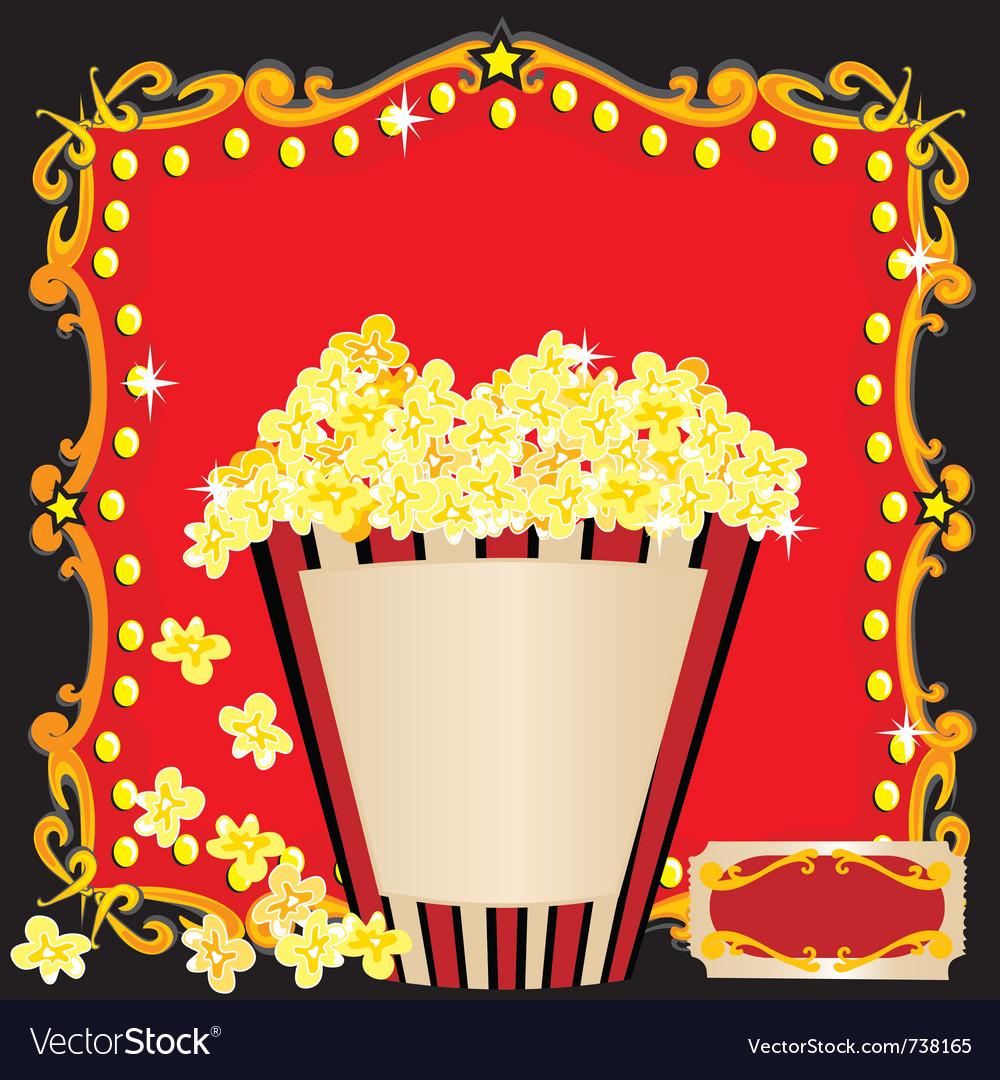 Movie birthday party vector image