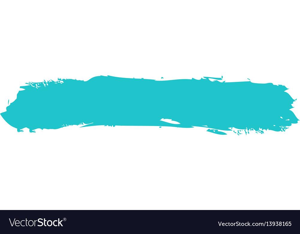 Green paint brushstroke vector image