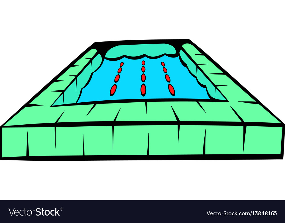 Swimming pool icon icon cartoon vector image