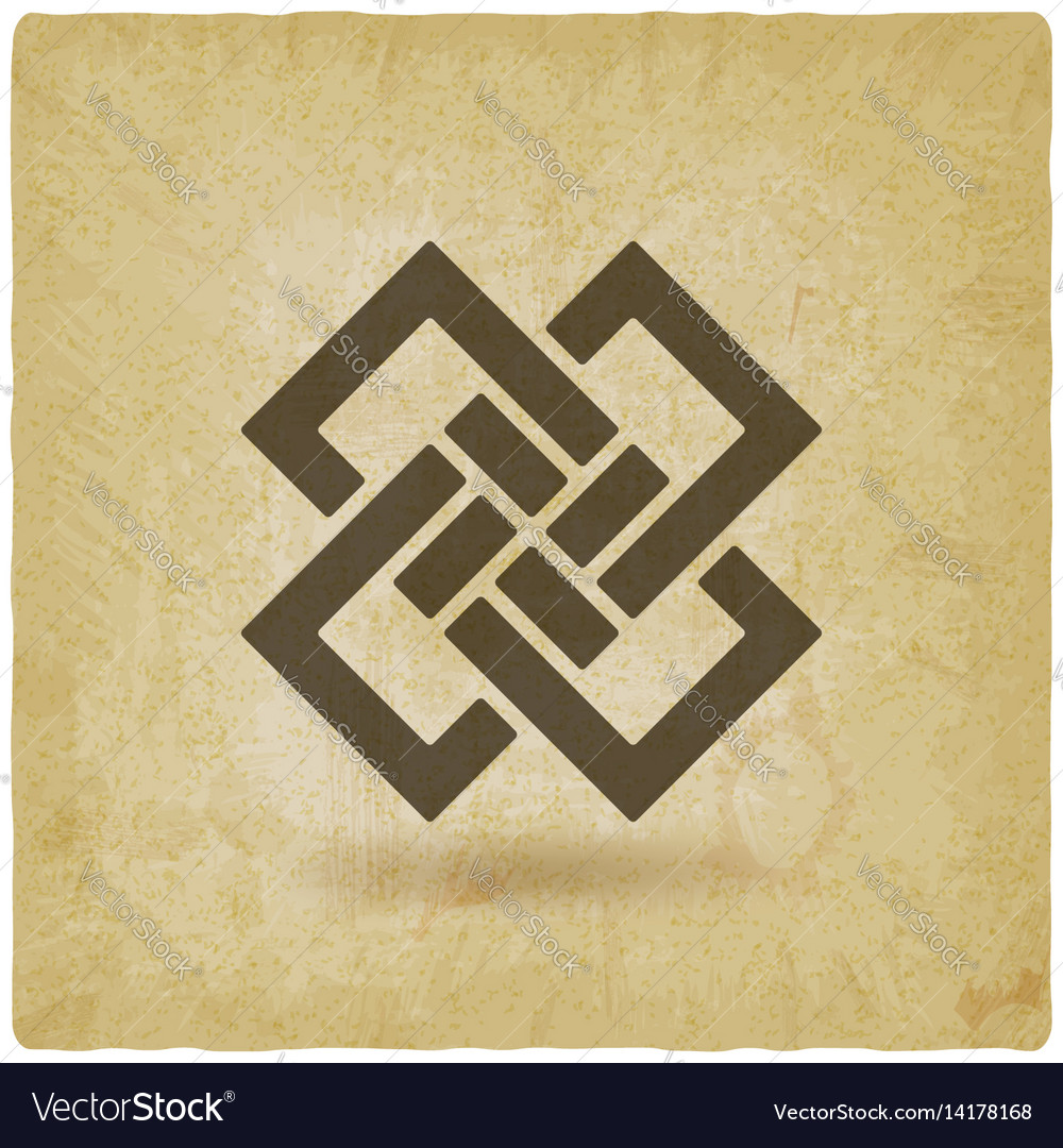 Abstract interlocking squares vintage background vector image