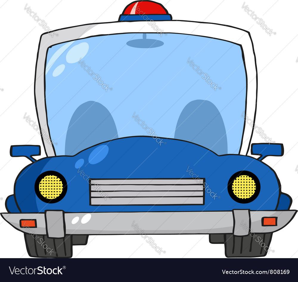 Cartoon Police Car vector image