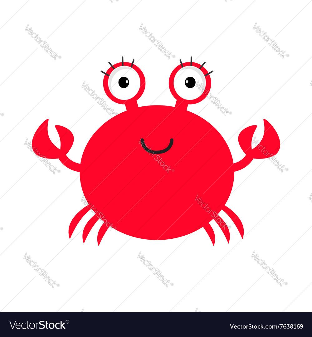 crab icon cute cartoon baby character sea ocean vector image