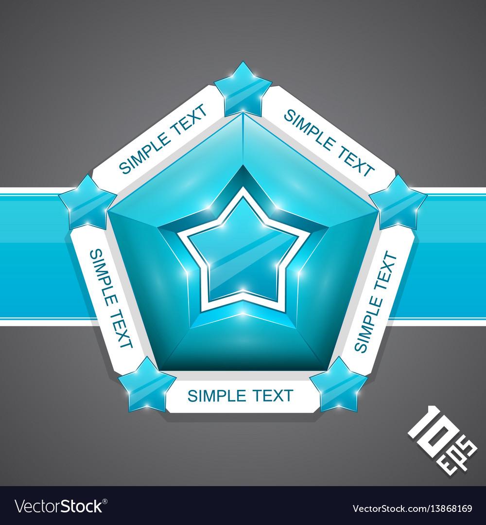 Five stars mark vector image