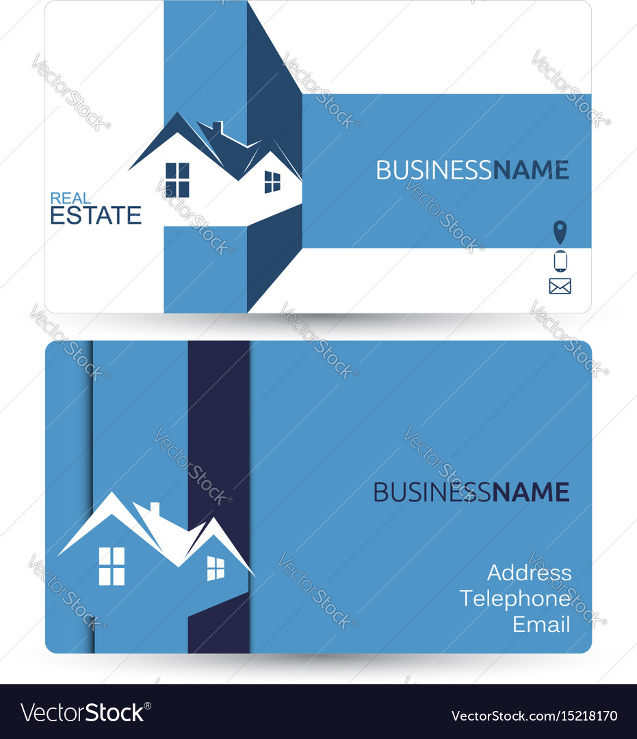Business card for real estate royalty free vector image business card for real estate vector image magicingreecefo Image collections