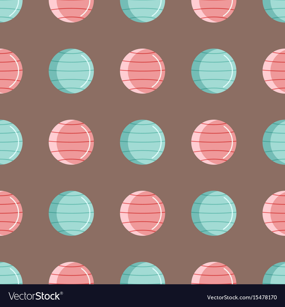 Fitness gym club seamless pattern athlet vector image