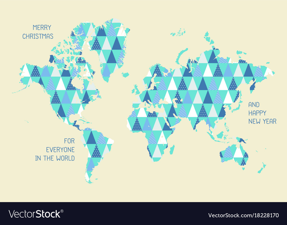 World map with triangle pattern royalty free vector image world map with triangle pattern vector image gumiabroncs Image collections