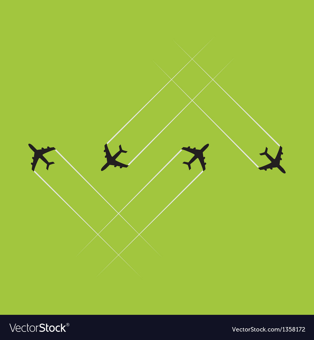 Airplanes vector image