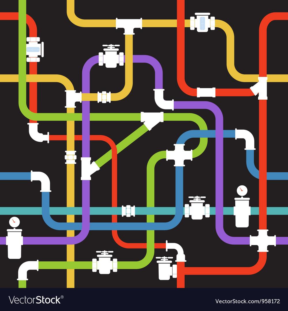 Pipeline vector image