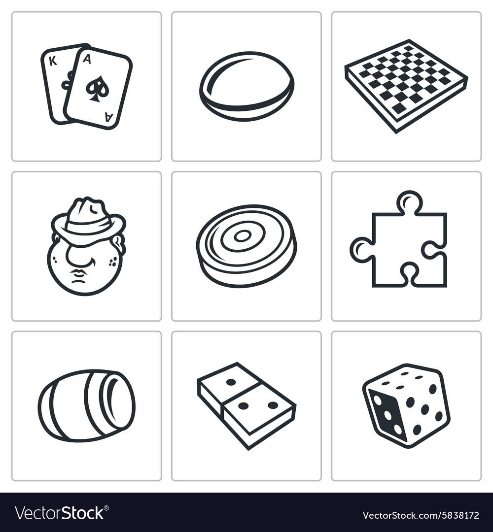 Board games icon vector image
