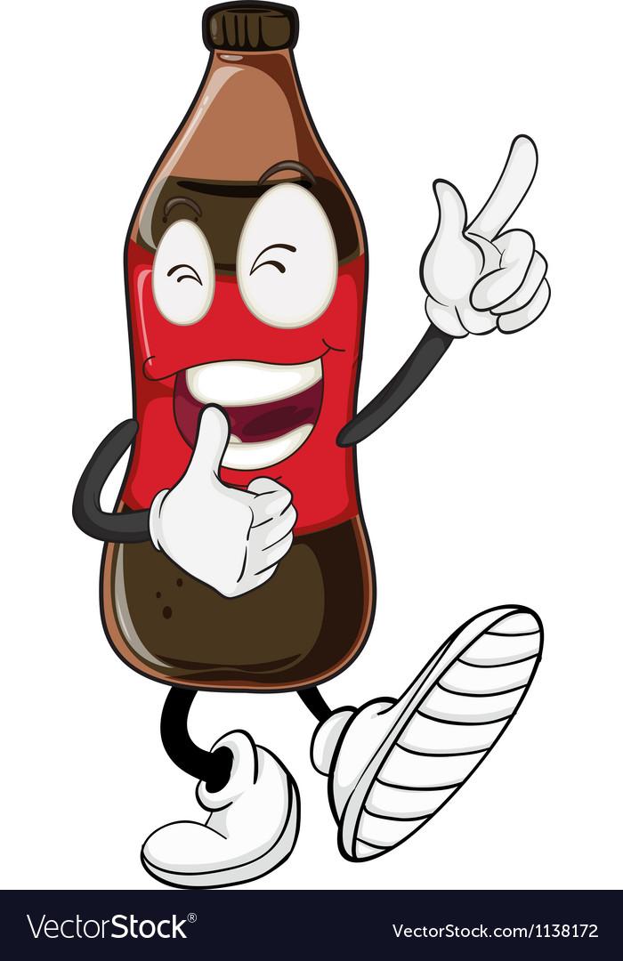 Cartoon Soda Pop Bottle vector image