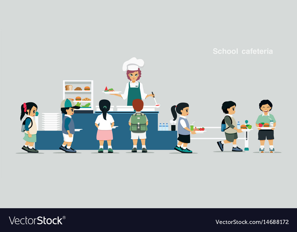 School cafeteria vector image