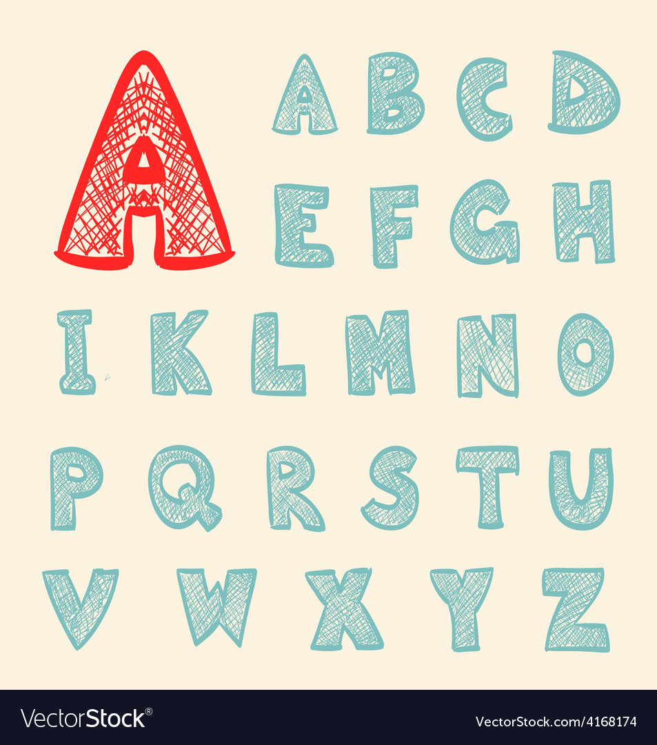 Abc retro cartoon vector image