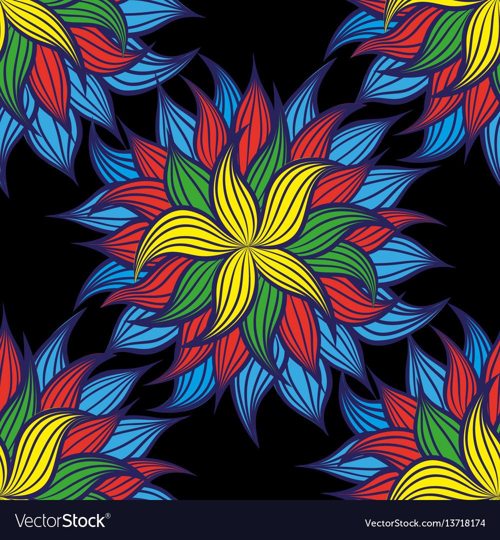 Floral pattern style vintage luxury fabrics vector image