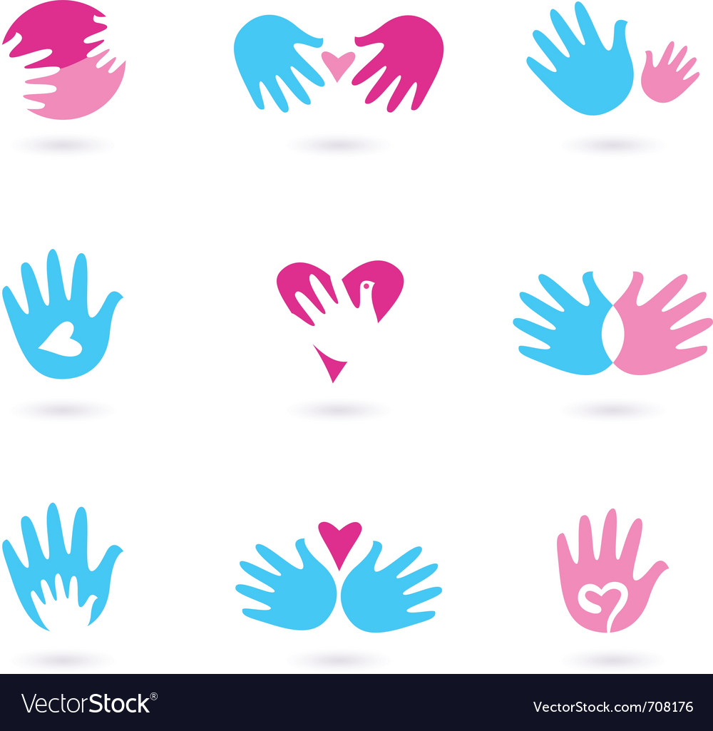 Hands and love Vector Image