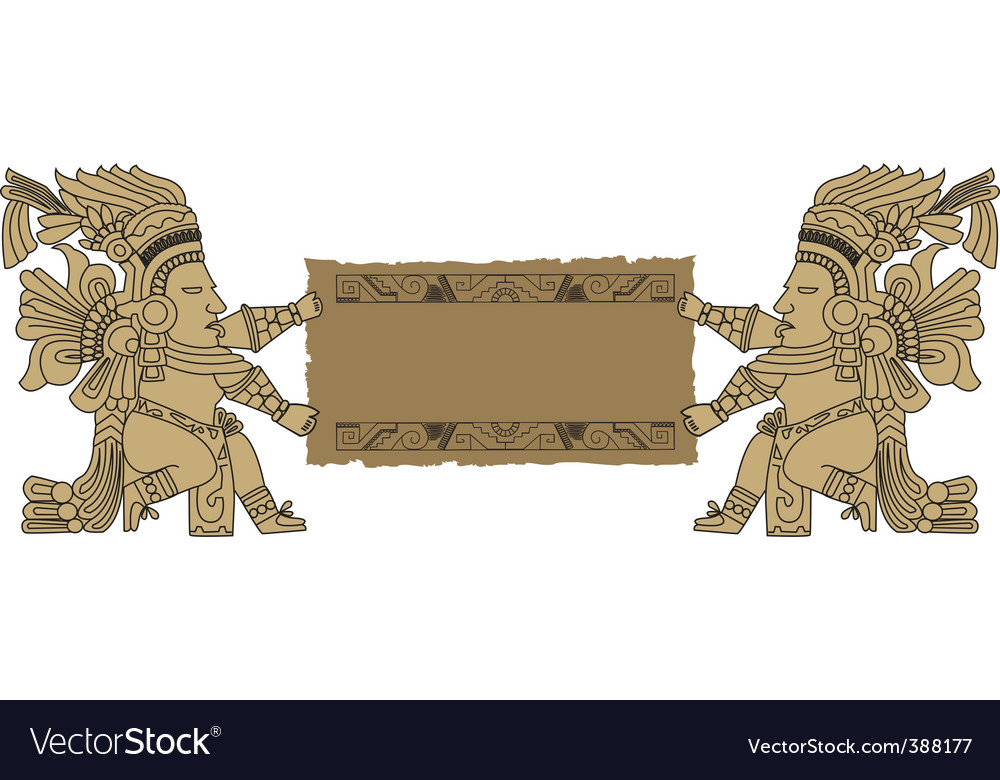 Vector Mayan and Inca tribal vector image