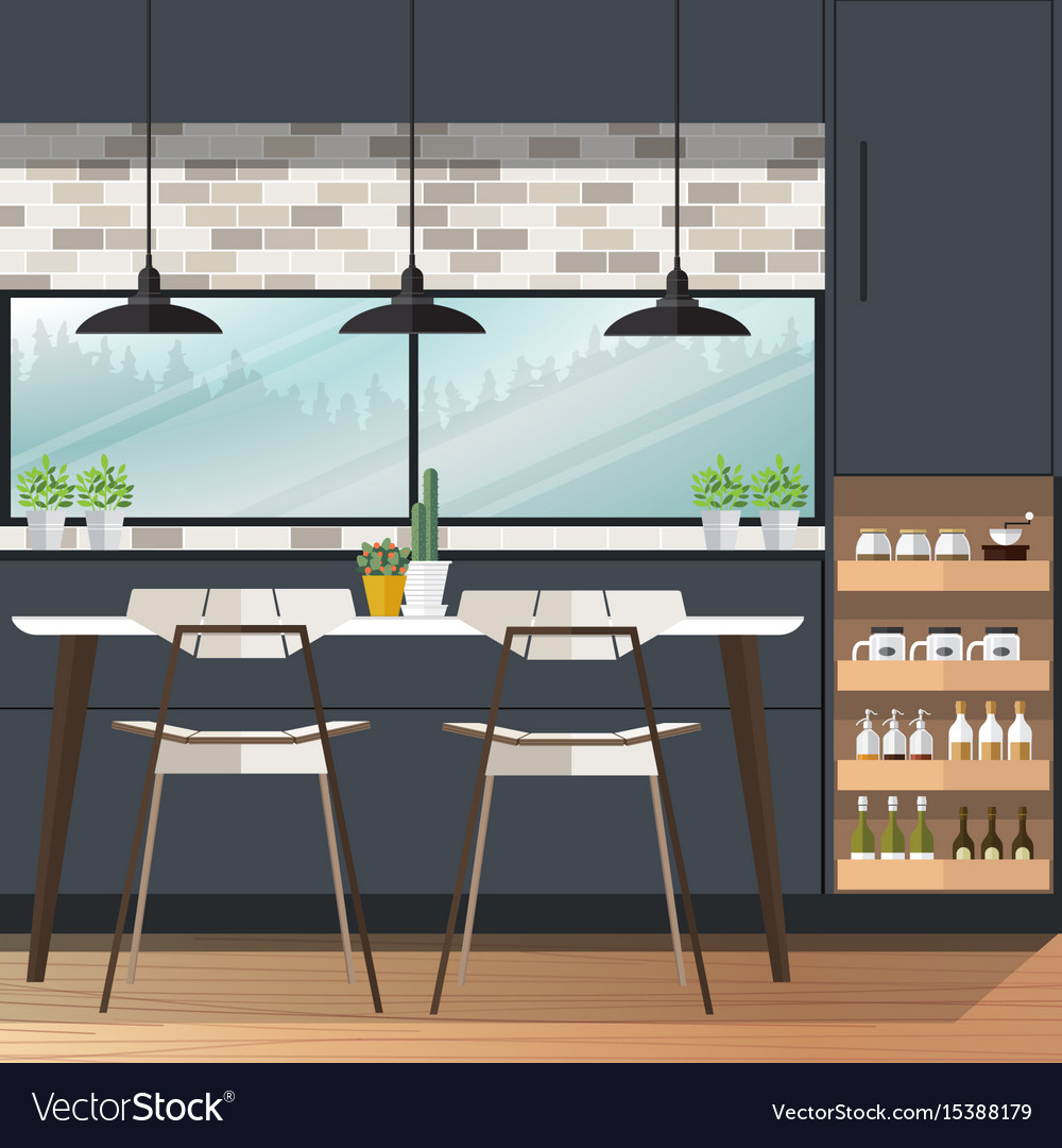 Dining Room Design Vector Image