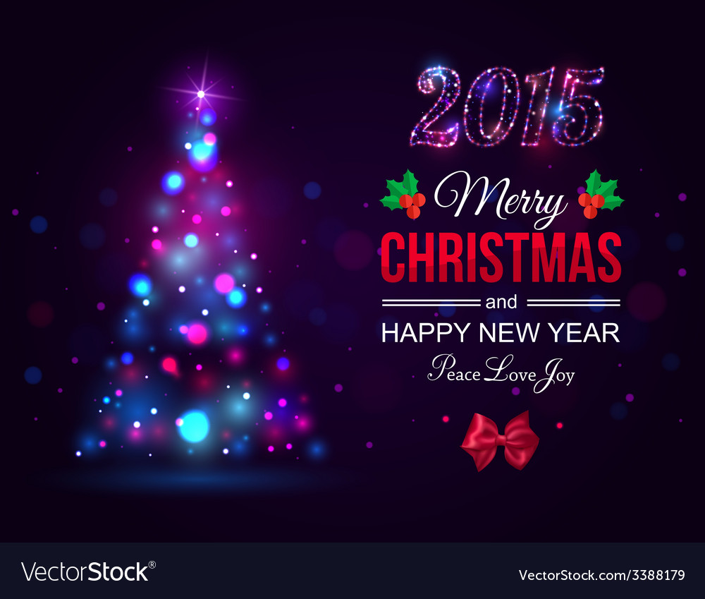 Merry Christmas 2015 celebration concept with xmas vector image
