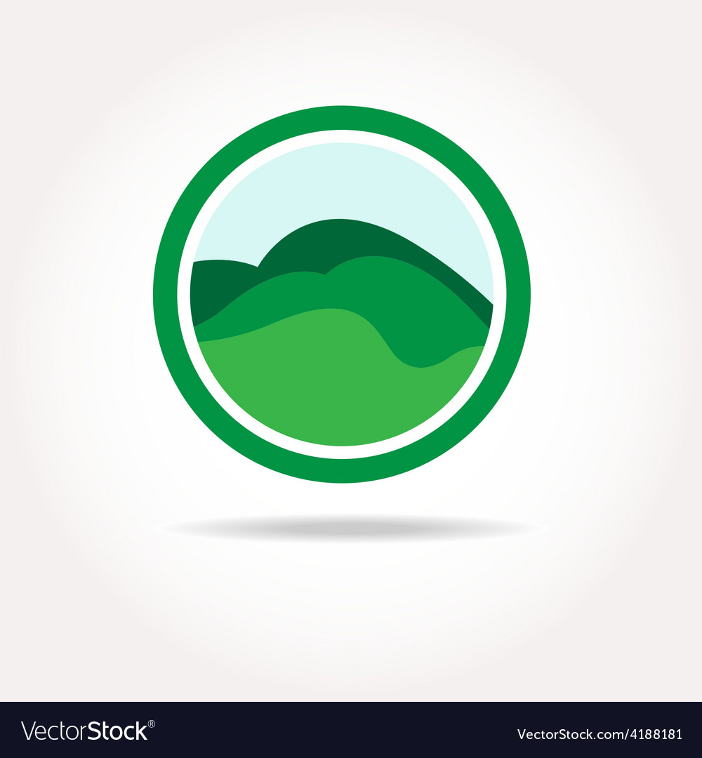 Green healthy nature agricultural logo vector image
