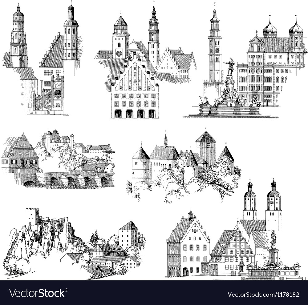 Medieval Scenics vector image