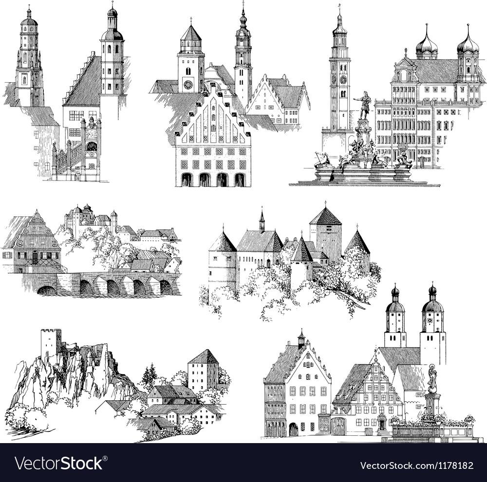 Medieval Scenics vector image