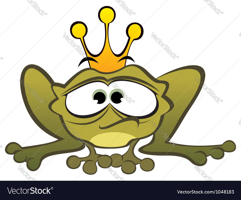 Depressed frog vector image