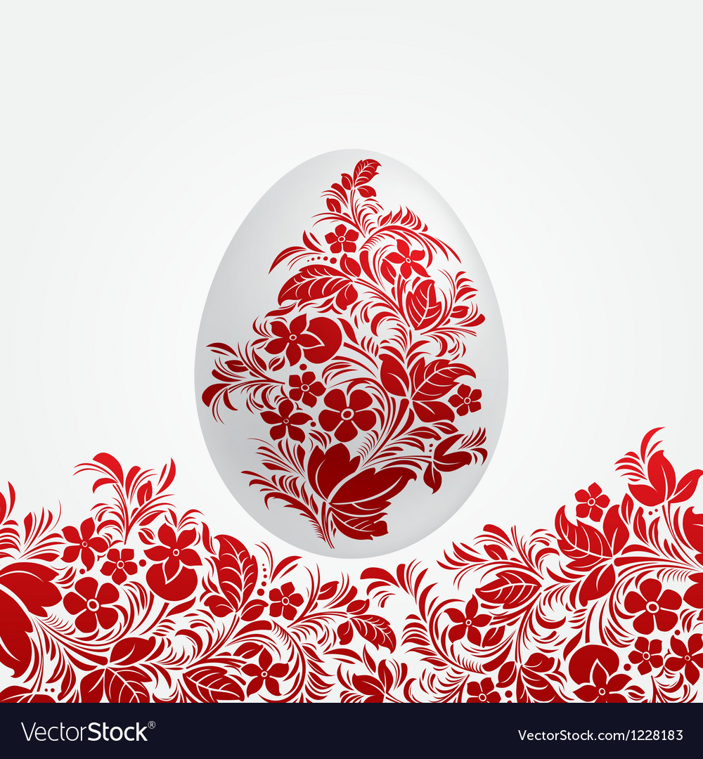 Easter red eggs design template vector image