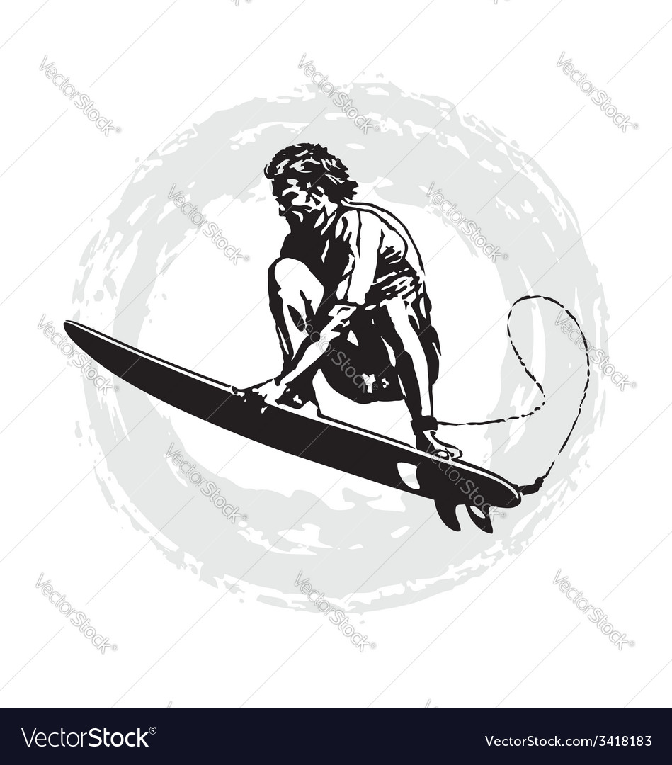 Surfer pro vector image