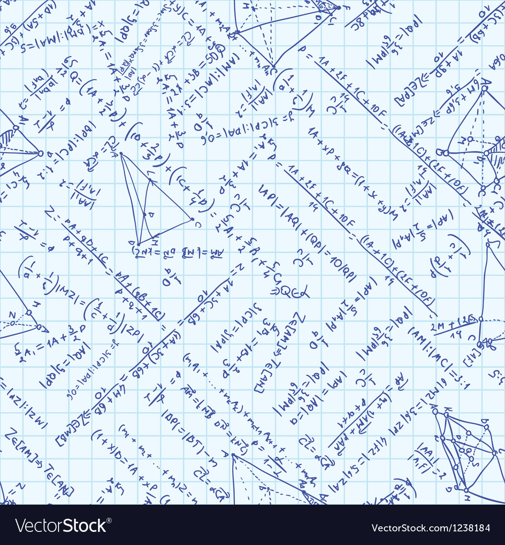 Maths Equation Pattern vector image