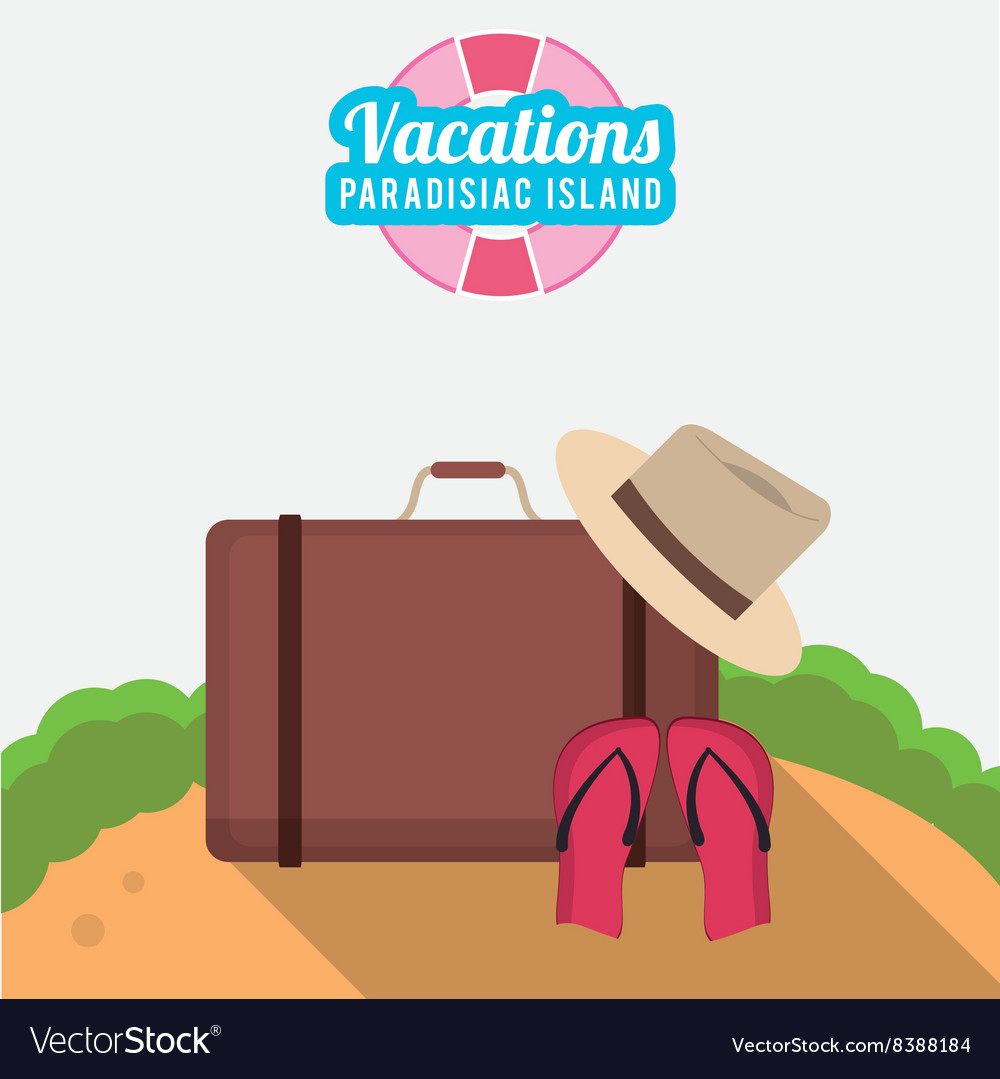 Icon of vacations design vector image