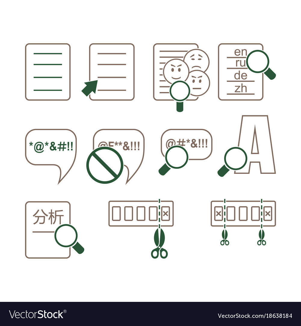 Linguistic icons vector image