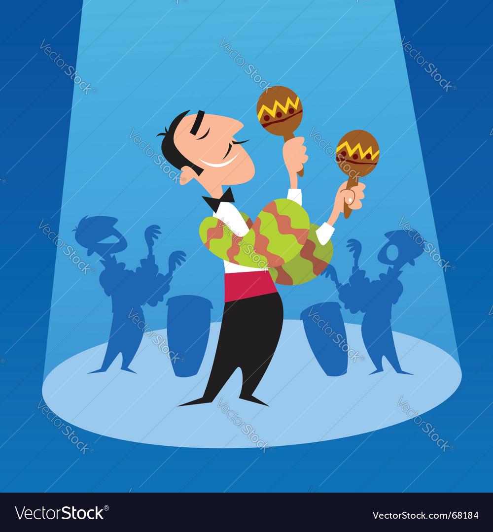 Salsa music vector image