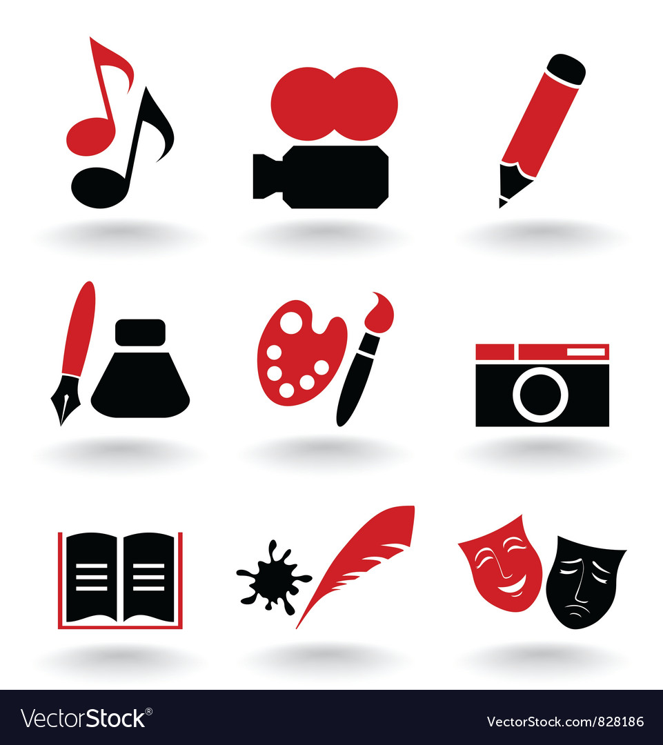 Art icon vector image