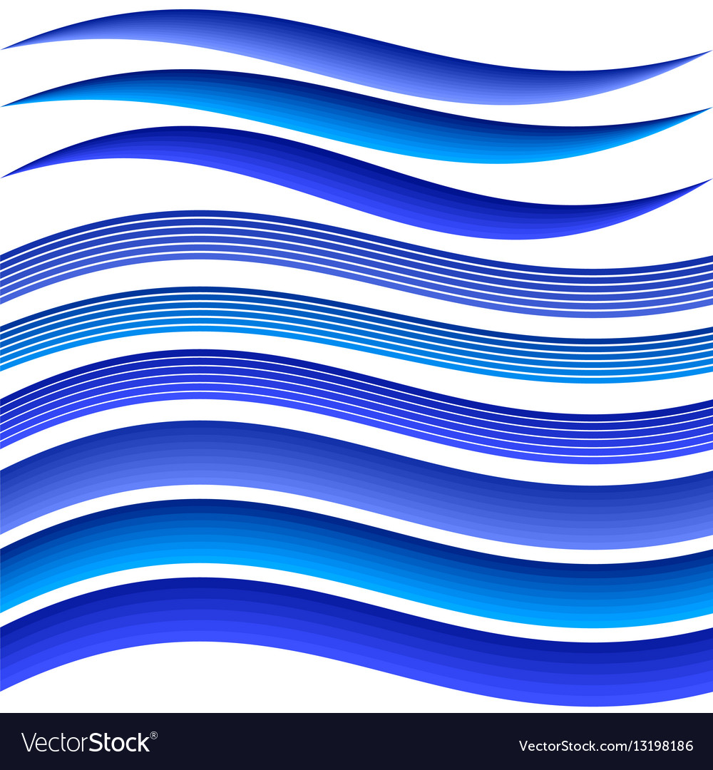 set of abstract blue wavy background water