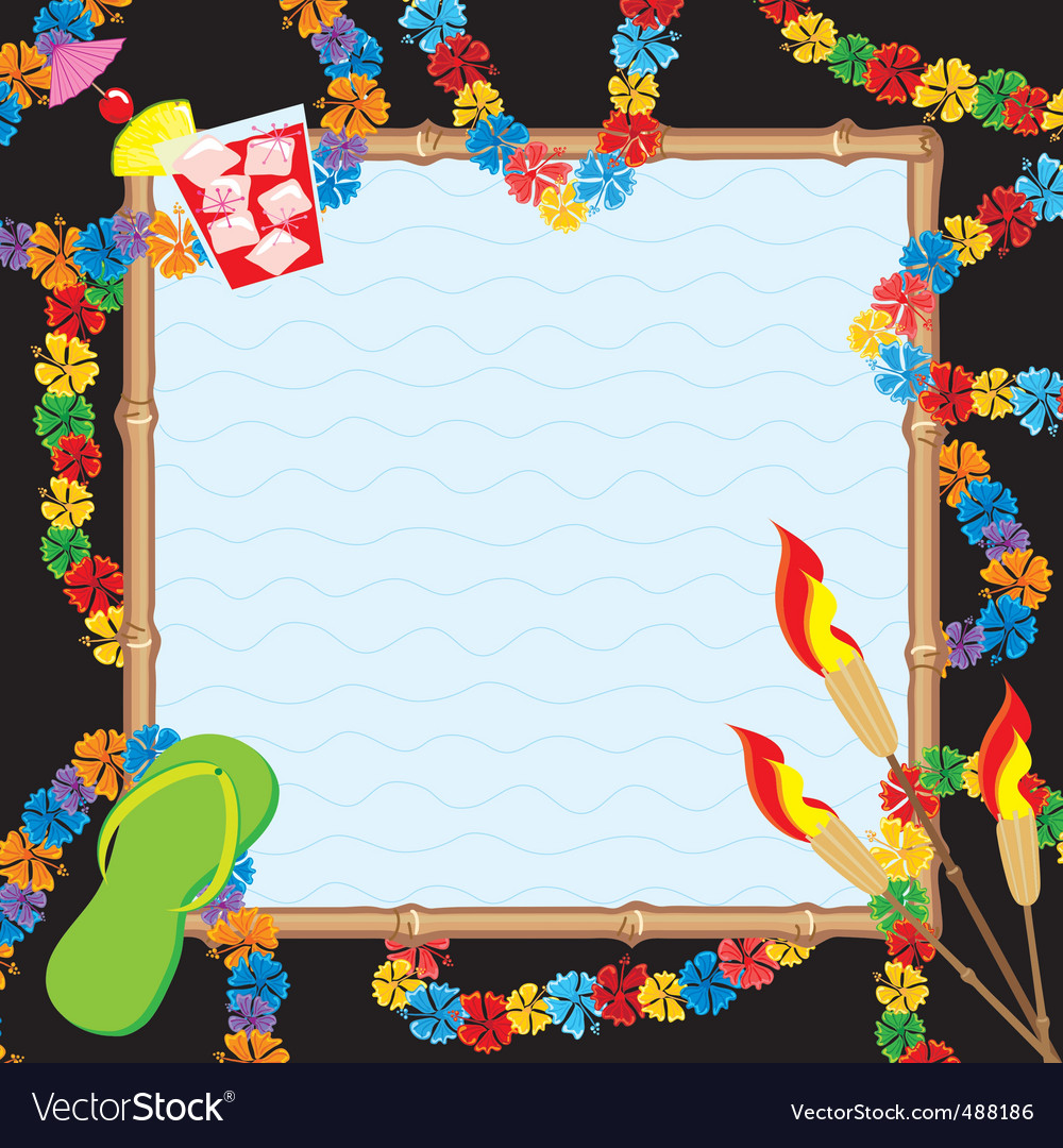 Hawaiian pool party vector image
