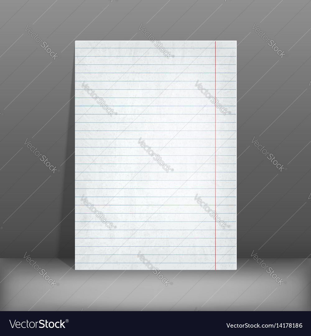 Lined Paper Blank Design Sheet A4 Vector Image  Blank Line Paper