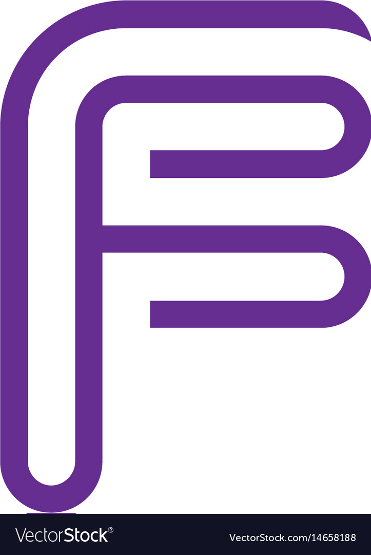 Creative letter f logo abstract business logo des vector image