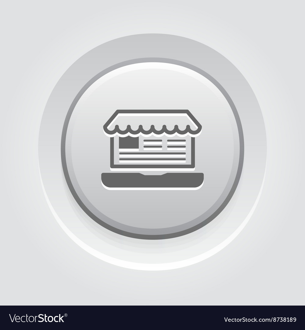 Online Store Icon Business Concept vector image