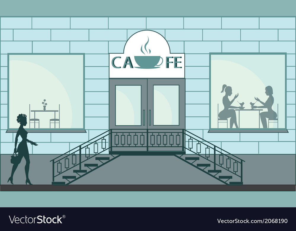 Cafe vector image