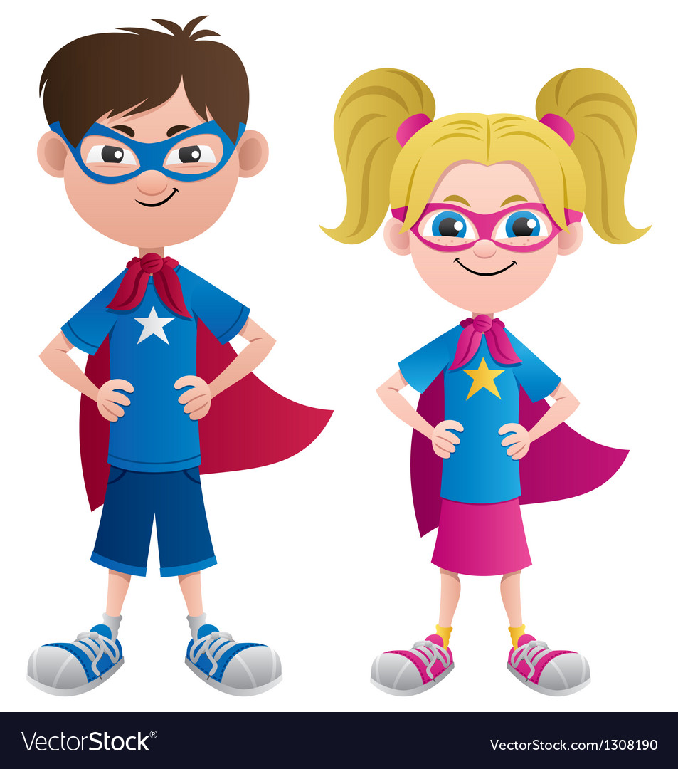 Super Kids vector image