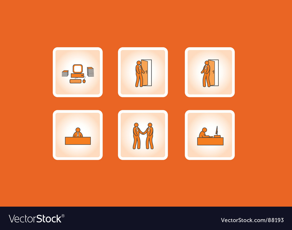 Working office icons vector image