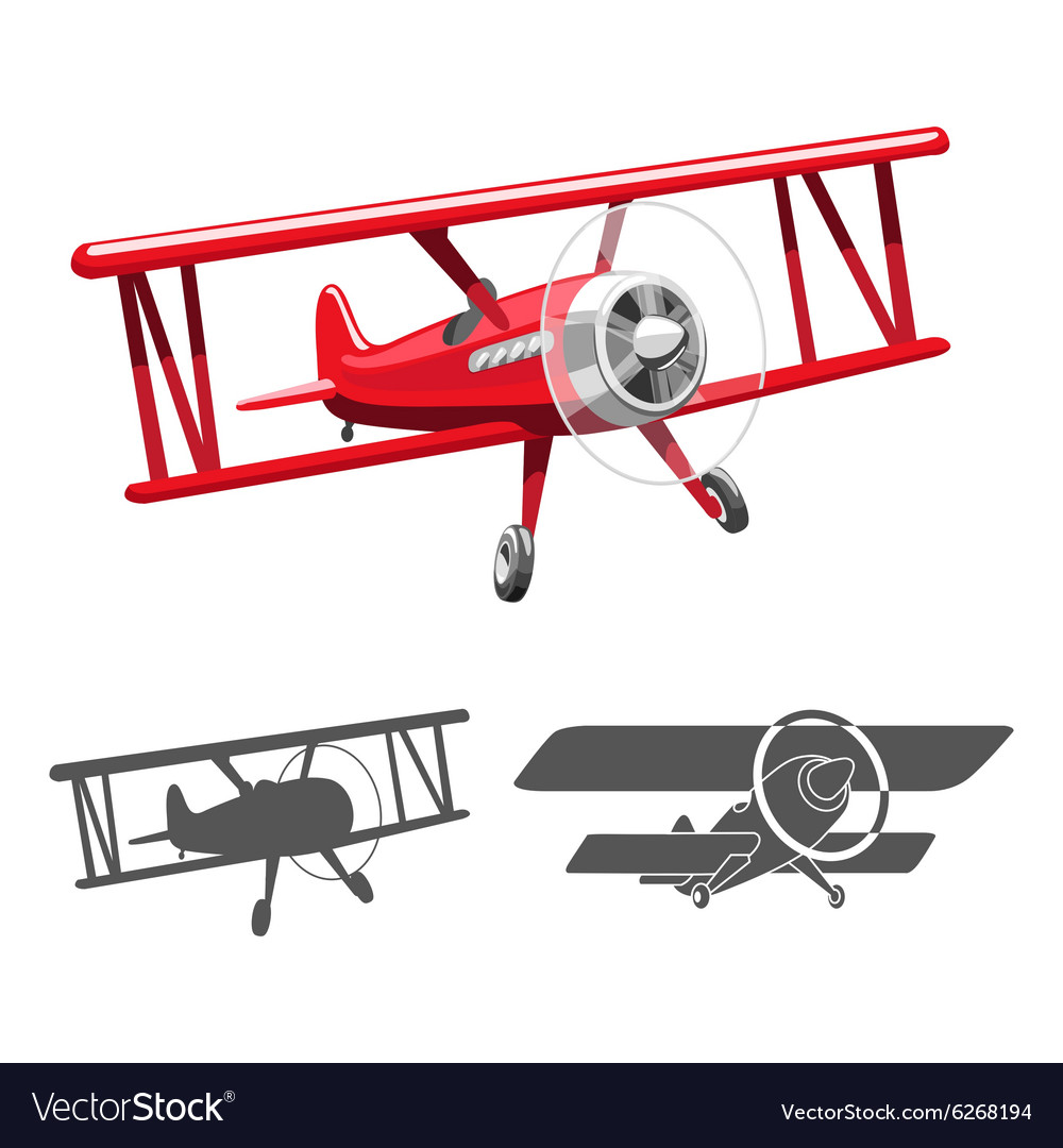 Airplane logo vector image